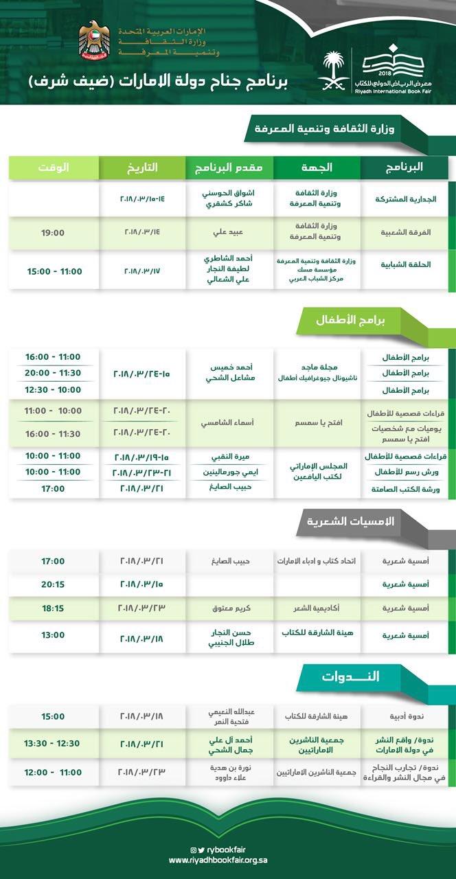 جدول معرض الرياض الدولي 2020